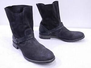 N-D-C-Womens-40-9-5-10-Gray-Brown-Burnished-Suede-Ankle-Strap-Boots-made-by-hand