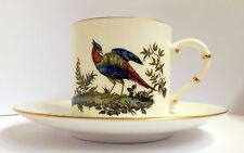 Royal Worcester Bird of Paradise Coffee Can & Saucer