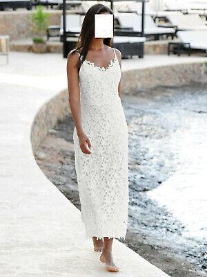 Marken Kleid aus ausdrucksstarker Spitze weiss Gr. 42, Gr ...