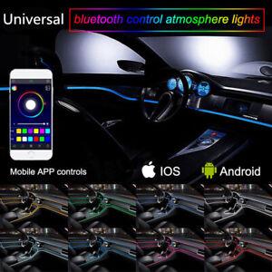 RGB-LED-Auto-Neon-el-barra-luminosa-interni-illuminazione-atmosfera-Lampada-app-Control