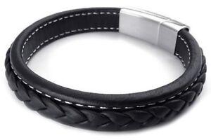 pulsera-de-joyeria-de-hombres-brazalete-de-acero-inoxidable-de-cuero-negr-C8C3