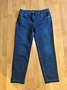 in scuro skinny a vita Bnwt lungo taglio medio Elena con vita Stretch bassa a jeans S16 Robell 09 blu gwxA1qnC