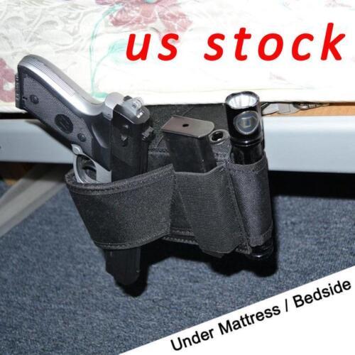 US STOCK Conceal Pistol Holster Quick Access Under Car Seat Bedside Gun Holster
