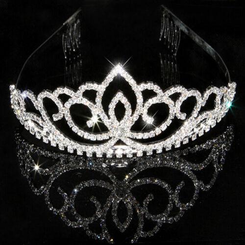 Wedding Party Bridal Bridesmaid Flower Girl Crystal Heart Crown Headband