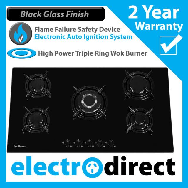 Brilcon GL90 Black Glass Gas Cooktop