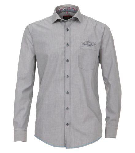 Casa Moda-Comfort fit-popeline Uomo Camicia A Strisce Antracite 472652600a