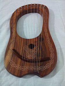 Lyra Harp Rosewood 10 Metal Strings/palissandre Lyre Harpe Métal Cordes étui Gratuit-od Lyre Harp Metal Strings Free Case Fr-fr Afficher Le Titre D'origine DéLicieux Dans Le GoûT
