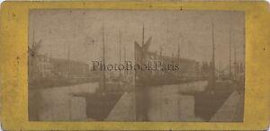 Anversa Antwerpen Belgium Foto Stereo Vintage Albumina Ca 1870