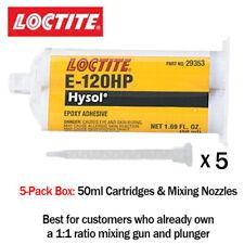 Loctite Ea Hysol E 120hp Toughened Non Sag 120 Min Epoxy 50ml 5 Pack