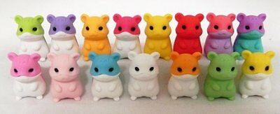 Pack of 100 Very Rare Hamster Puzzle Eraser Randomly Picked
