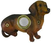 Surface Mount Doorbell Painted Dachshund Sitting Dog Doorbell Push Button
