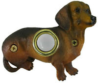 Surface Mount Doorbell Painted Dachshund Sitting Dog Doorbell Push Button