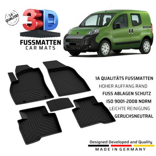 Fiat Fiorino//Qubo Gummifussmatten Bj ab 2008 Komplett Set Allwetter Fußmatten