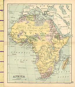 Carte Afrique Egypte.Details Sur C1880 Carte Afrique Soudan Madagascar Algerie Egypte Abyssinia