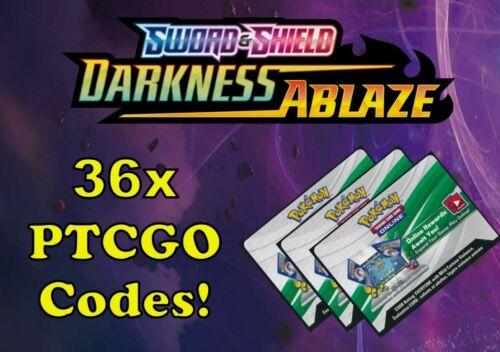 36 x Darkness Ablaze Pack Codes Pokemon Trading Card Game Online PTCGO
