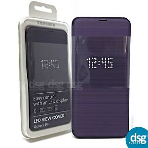 the latest 9fe5d 05bcd Details about Official Samsung Galaxy S9+ SM-G965 Purple LED Flip Wallet /  Case - EF-NG965PVEG