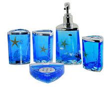 Fashion Bathroom 5-Piece Ocean Starfish Shell Design Bath Accessory Set