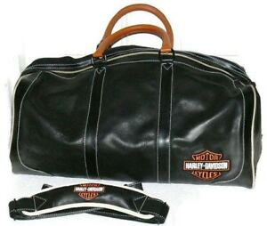 e00dfb603382 Harley-Davidson Leather Duffle Bag  Large Orange Black   Brand New W ...