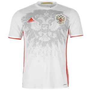 Adidas-Russland-Away-Shirt-2016-Football-Kurzarm-T-Shirt-Herren-Groesse-S-a133-14