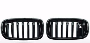 FRONT-KIDNEY-GRILLE-Glossy-Black-For-BMW-F15-X5-2014-2016