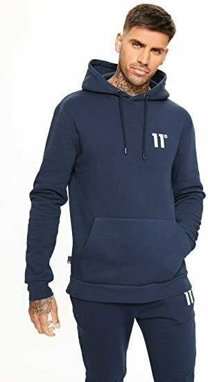 11 Degrees Core Pull Over Hoodie Navy