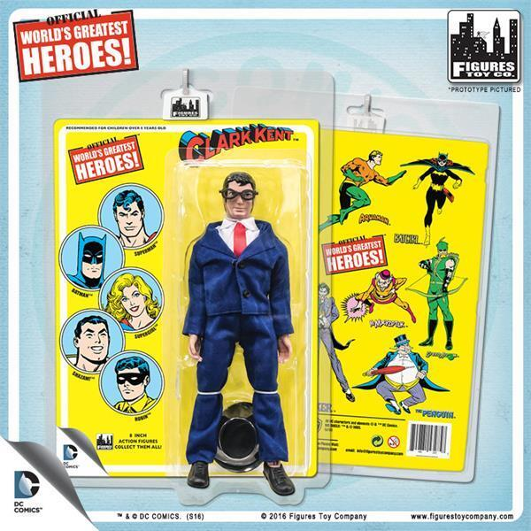 Worlds Greatest Heroes Retro   carded Clark Kent 8  action figure NEW