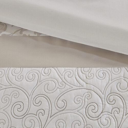 BEAUTIFUL ELEGANT CHIC  IVORY WHITE NEUTRAL BEIGE SOFT COMFORTER SET /& PILLOWS