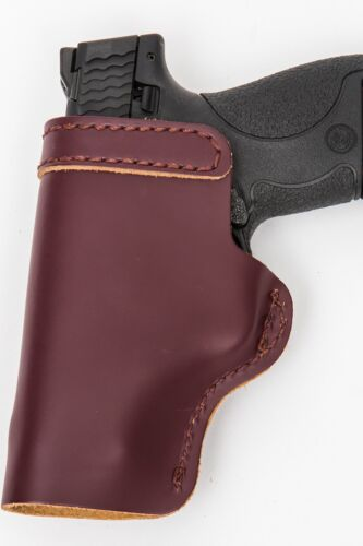 Pro Carry LT RH LH OWB IWB Leather Gun Holster For Ruger LCRx 3in