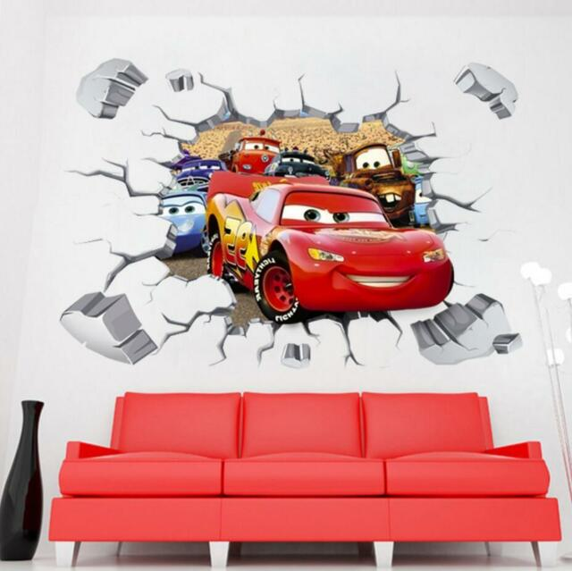 cars mcqueen mater removable wall stickers decal kids home decor
