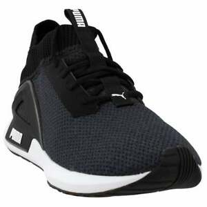 Puma-Rogue-Lace-Up-Mens-Sneakers-Shoes-Casual-Black