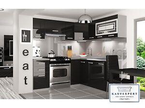 l k chenzeile moderno l 360 cm wei rot schwarz hochglanz einbauk che l form ebay. Black Bedroom Furniture Sets. Home Design Ideas