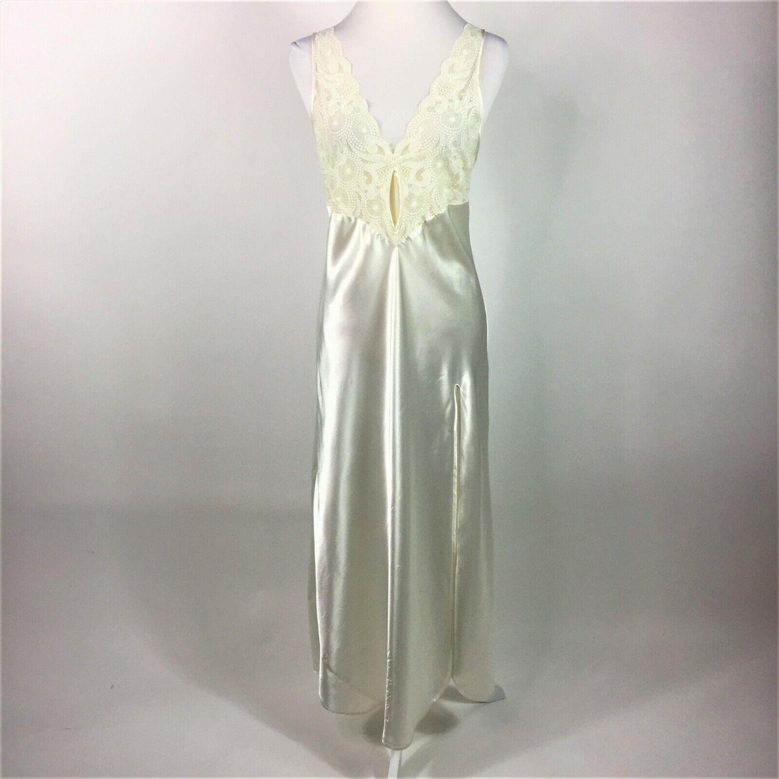 Victorias Secret Long  Ivory Gown Lingerie Size Medium Bride Wedding