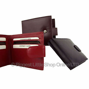 NEW-Mens-Gents-Soft-Tabbed-LEATHER-Wallet-3-Colours-Quality-Credit-Card-Slots