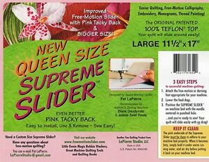 Image Is Loading Queen Size Supreme Slider Free Motion Machine Quilting