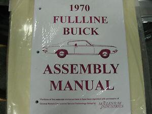 ASSEMBLY MANUAL CATALINA ALL MODELS 1970 PONTIAC FULLSIZE BONNEVILLE