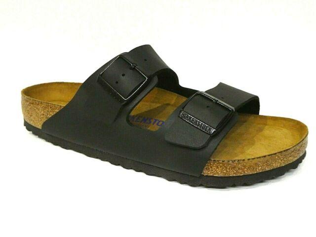 bf2c9a40e8e112 Birkenstock Arizona Sandalen Pantoletten schwarz Birko Flor Soft Normal  551251