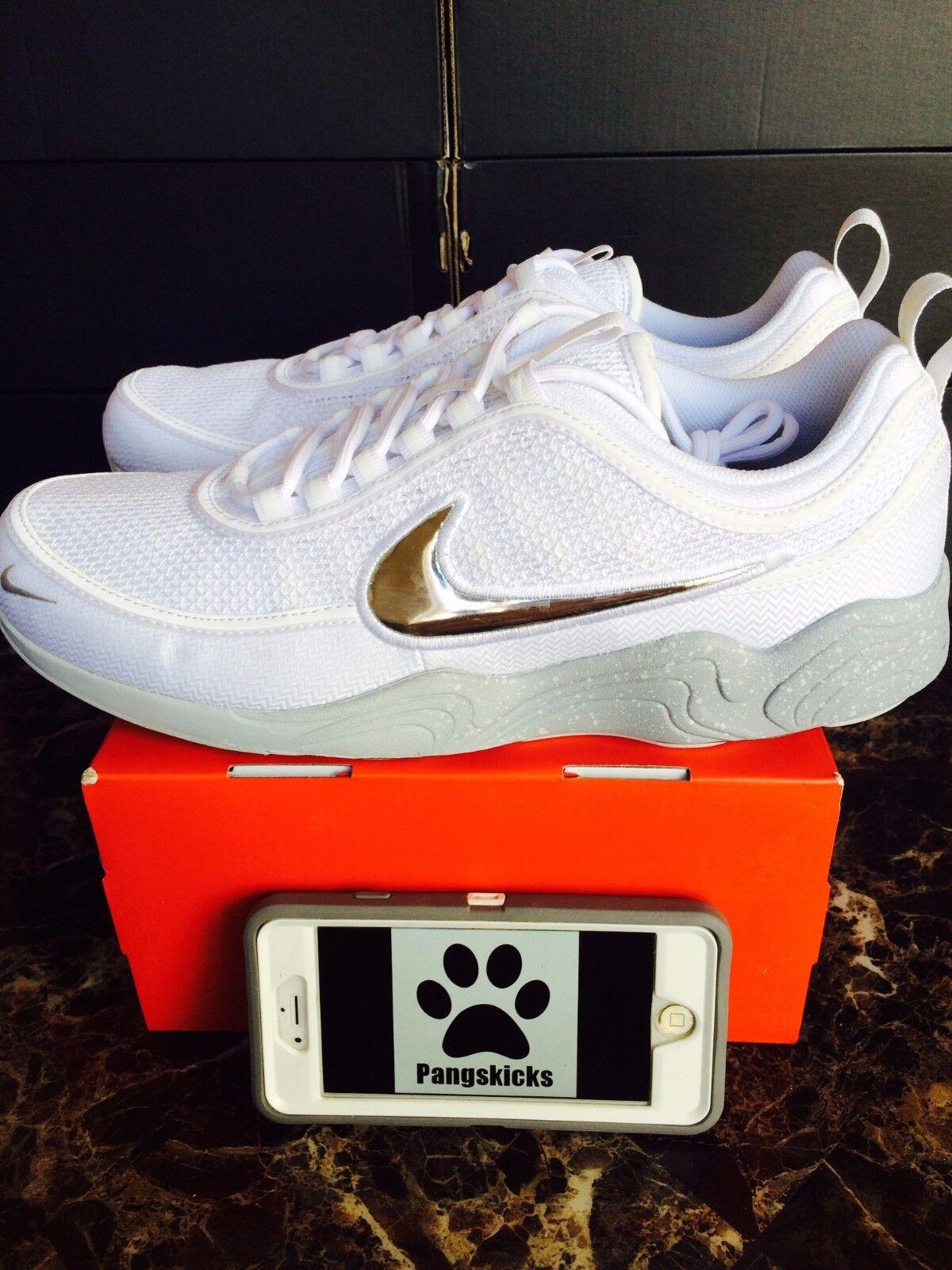 00be4cc6d248 Nike Air Zoom Spiridon  16 Olympics White Silver NikeLab 849776-100 Size 10-