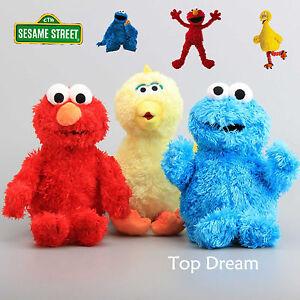 Sesame-Street-Elmo-Cookie-Monster-Big-Bird-Plush-Doll-Soft-Stuffed-Animal-Toy