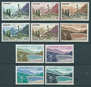 Andorre-1961-Paysages-N-158-a-164-neufs-MNH