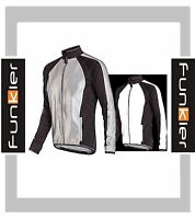 Funkier Wj-1322 Soft Shell Windstopper Jacket Silver Reflective Cycle Cycling