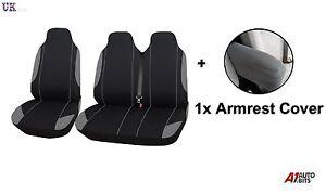 2+1 GRIS SUAVE CONFORT Tela /& Apoyabrazos Fundas De Asiento para Renault Master
