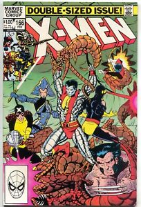 Uncanny-X-Men-166-Marvel-1983-NM-Wolverine-Colossus-Brood-1st-Lockheed