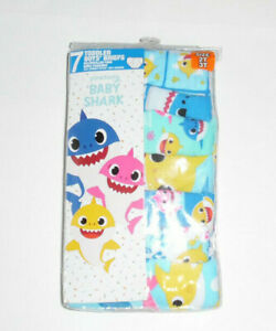 2T//3T Baby Shark Boys Toddler 7pk Briefs