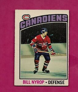 1976-77-OPC-188-CANADIENS-BILL-NYROP-ROOKIE-EX-CARD-INV-A058