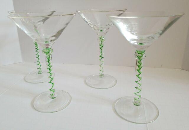 Set of 4 Wauhatchie Hand Blown Blown Glasses