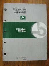 John Deere F510 F525 Front Mower Technical Manual Tm 1475