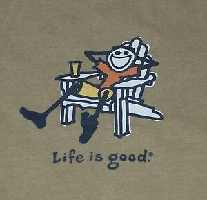 Life is Good Mens Adirondack Jake Vintage Crusher Tee