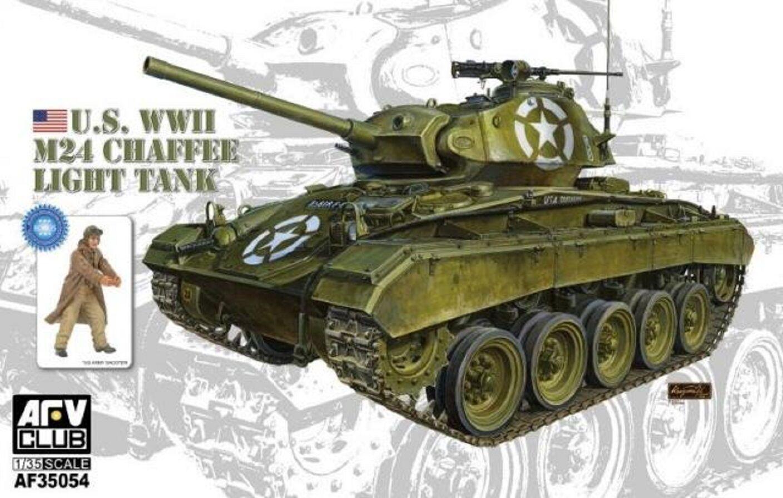 AFV CLUB U.S. M24 CHAFFEE LIGHT TANK WWII 1 35 Cod.35054