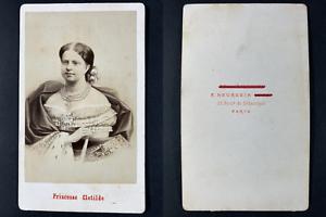 Neurdein, Paris, Princesse Marie-Clotilde de Savoie Vintage cdv albumen print