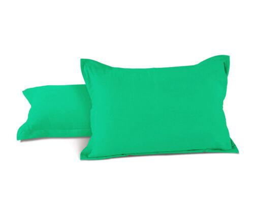 Set of 2 Pcs Cotton Pillowcase Home Decor Sofa Throw Plain Pillow Cover Set